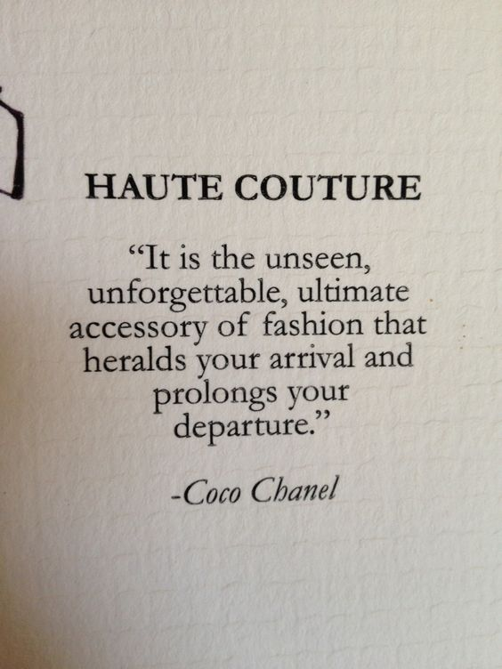 Haute Couture meaning elegant, or high, and couture
