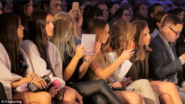 Luxury fashion. front row at fashion week