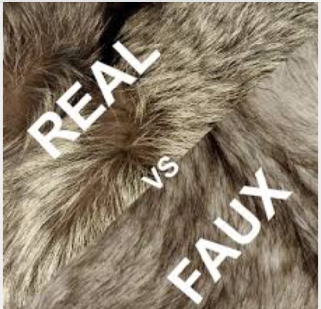 Real Fur vs. faux fur
