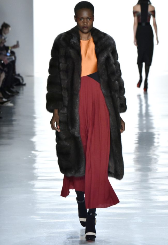 Real fur vs. faux fur Bibhu Mohapatra RTW Fall 2017