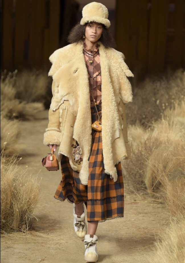 Real fur vs. faux fur Coach 1941 RTW Fall 2017