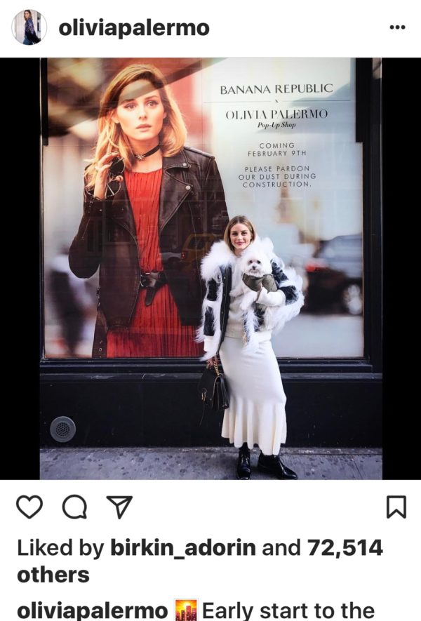 New York socialite and luxury fashion style icon turned fashion model Olivia Palermo
