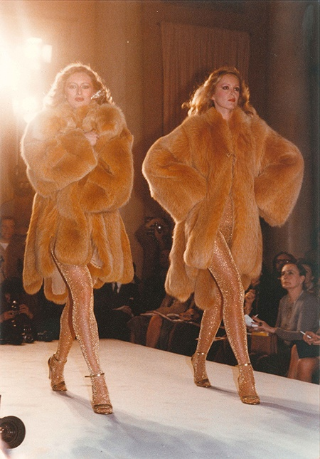 1979 | Carlo Tivioli fur coats Golden sandals by Aldo Sacchetti Source: Carlo Tivioli last solar eclipse era