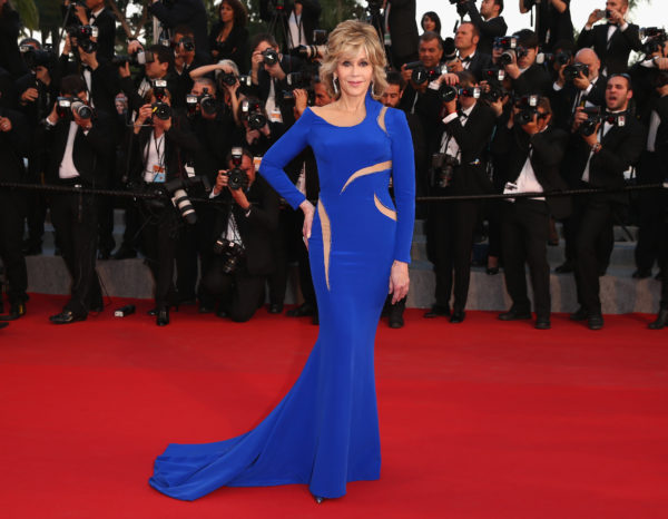 77 Year old Jane Fonda in 2015 at 68th annual cannes film festival. Age Appropriate Style
