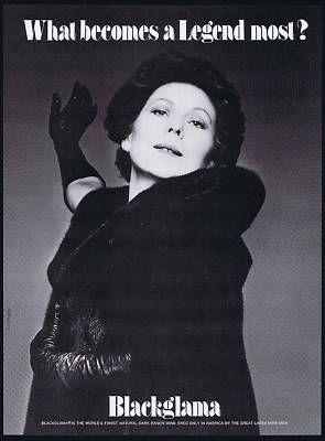"""Renata Scotto - Blackglama Mink """"What Becomes A Legend Most?"""" Ad Campaign 1979 solar eclipse"""