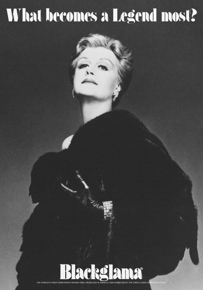 """Angela Lansbury - Blackglama Mink """"What Becomes A Legend Most?"""" Ad Campaign solar eclipse"""