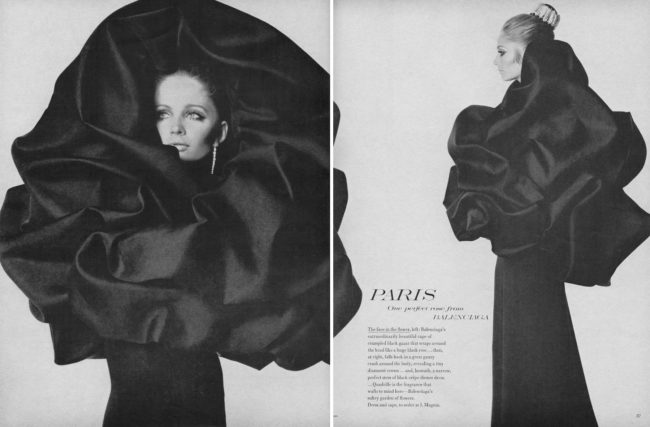 Balenciaga Haute Couture A/W 1967/68 by Irving Penn with Sue Murray, US Vogue Sep 1967