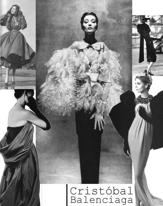 Pieces featured in the Balenciaga : Shaping Fashion exhibit