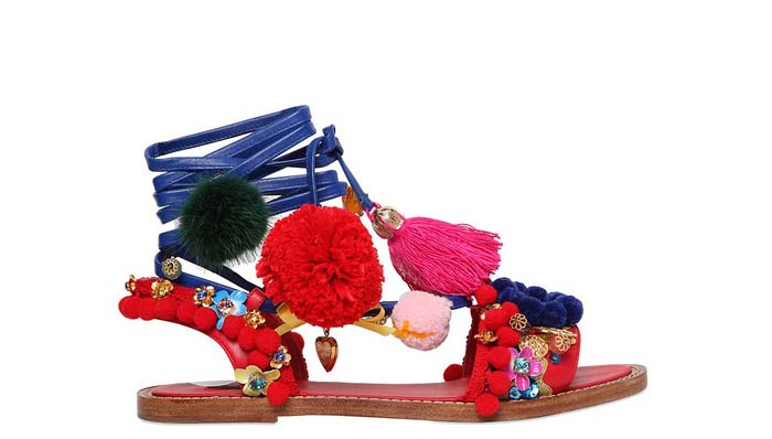 furry footwear Dolce and Gabbana Summer 2017