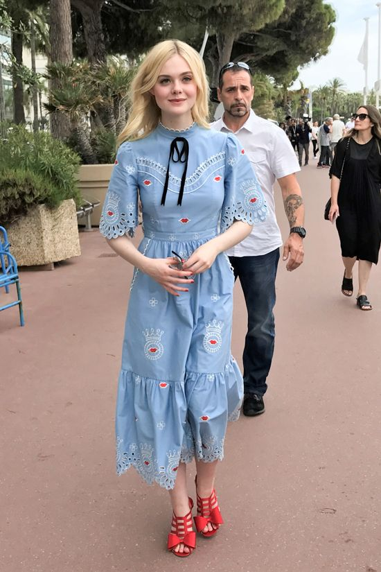 Elle Fanning Cannes Film Festival 2017 age appropriate style