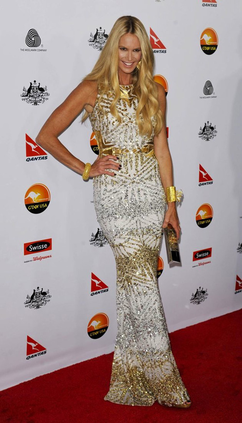 Elle Macpherson in 2013 at the GDay Black Tie Gala exemplifies age appropriate style