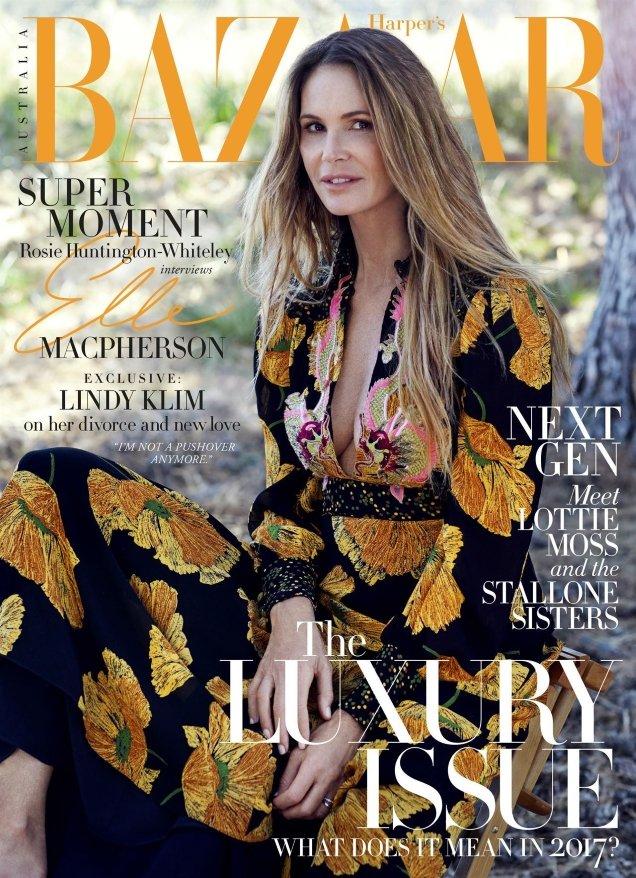 Elle Macpherson Harper's Bazaar Australia June July 2017 age appropriate style