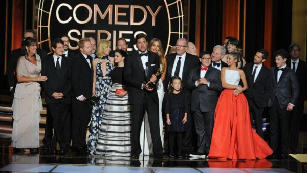 Modern Family with Sofia Vergara at the Emmys