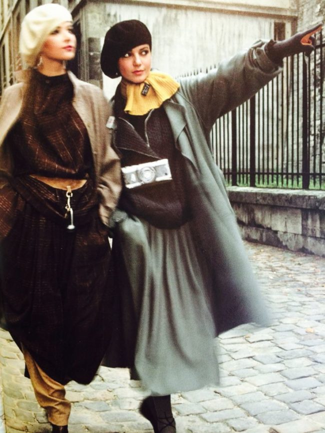 Fashion editorial from French Elle magazine in 1979 solar eclipse fashion