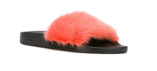 furry footwear Givenchy Summer 2017