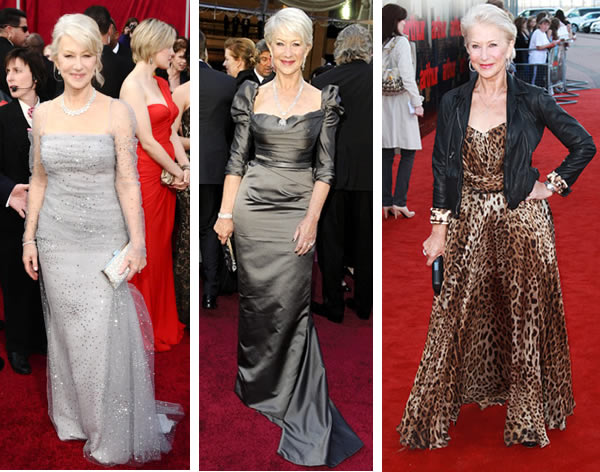 Helen Mirren showing her age appropriate in 2017