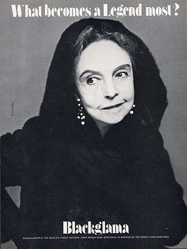 "Lillian Gish - Blackglama Mink ""What Becomes A Legend Most?"" Ad Campaign 1979 solar eclipse"