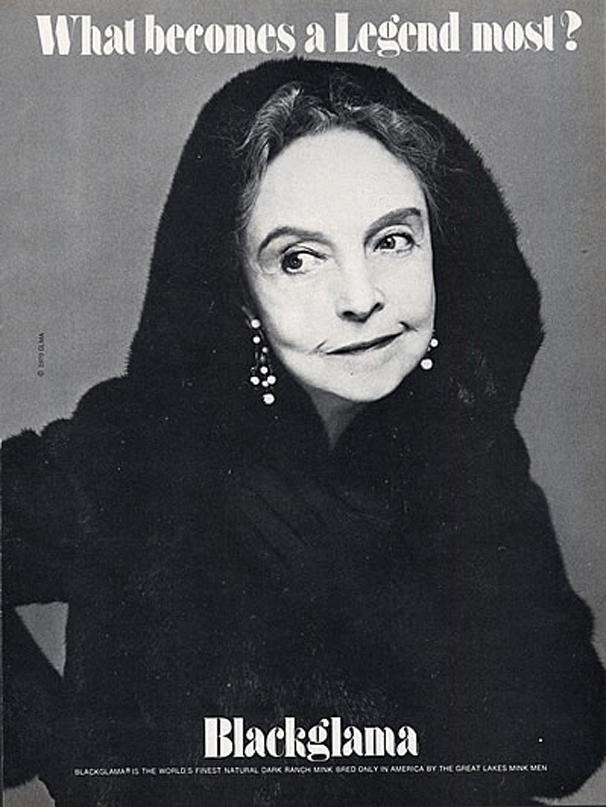 "Lillian Gish - Blackglama Mink ""What Becomes A Legend Most?"" Ad Campaign 1979 solar eclipse"
