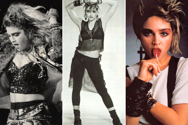 Iconic style. Madonna in her 20s. age appropriate style