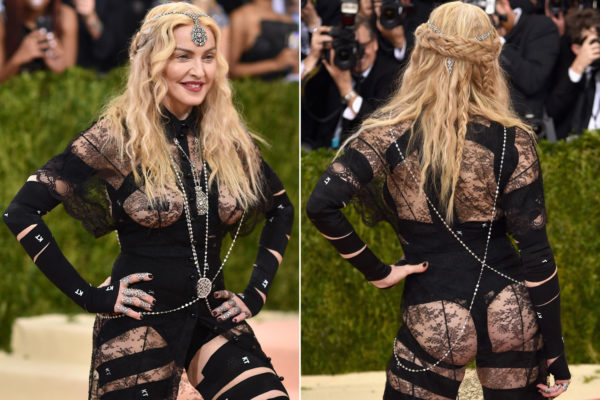 Age Appropriate style? Madonna's 2016 Met Gala red carpet look