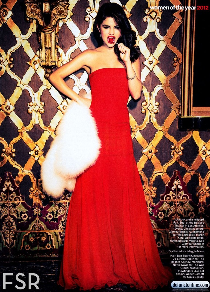 Selena Gomez for Glamour Magazine's December 2012 issue!