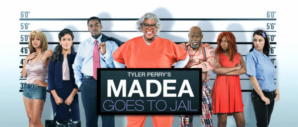 Tyler Perry stars as Madea and Sofia Vergara stars as T.T. in Lionsgate Films' Madea Goes to Jail (2009). Photo credit by Alfeo Dixon.