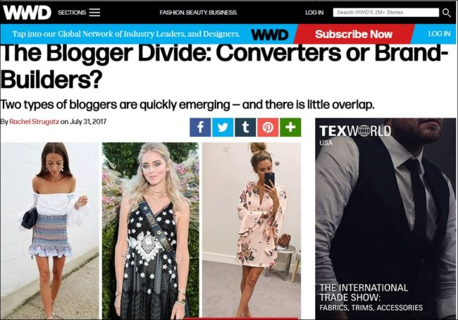 Converters vs. influencers what's the difference? WWD asks the question in their latest article