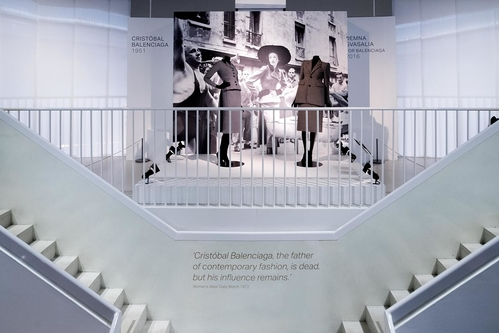 The Balenciaga exhibit at the Royal Victoria & Albert Museum in London