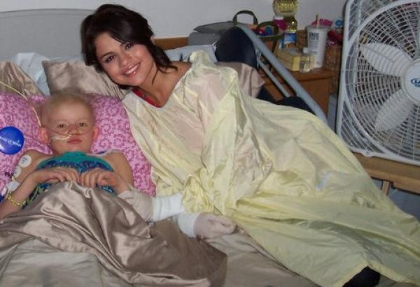 Selena Gomez is always one to lend time to children in need