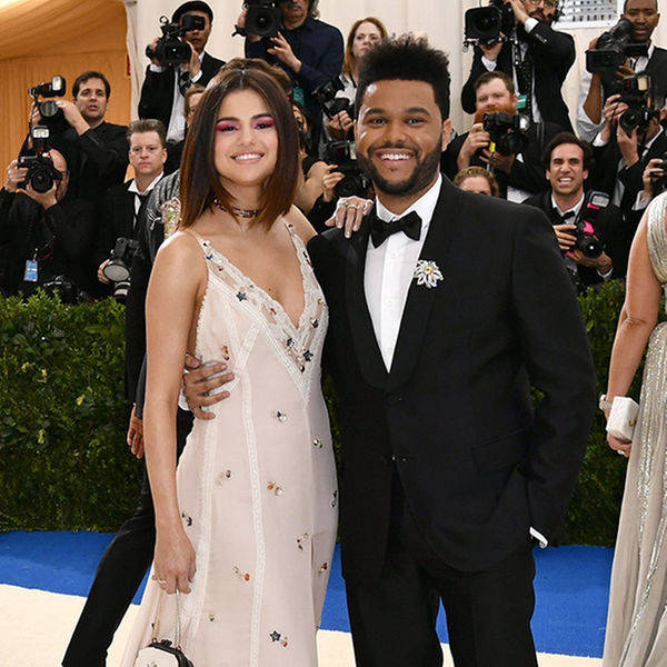 Selena Gomez and current boyfriend The Weeknd ant the 2017 MET Gala in NYC