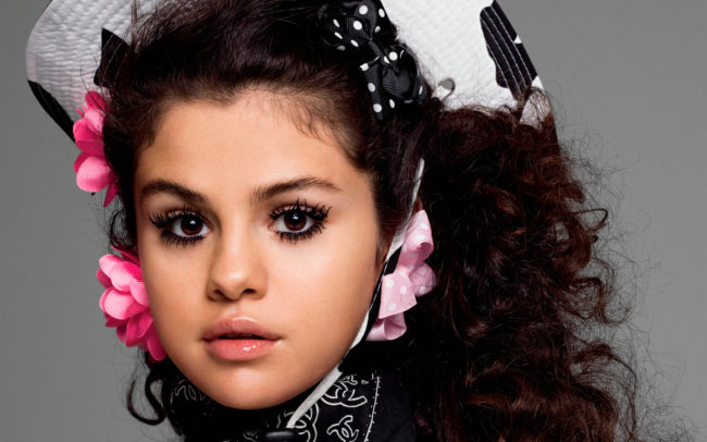 Big doe-like eye and a sultry pout, Selena Gomez has the face of an angel