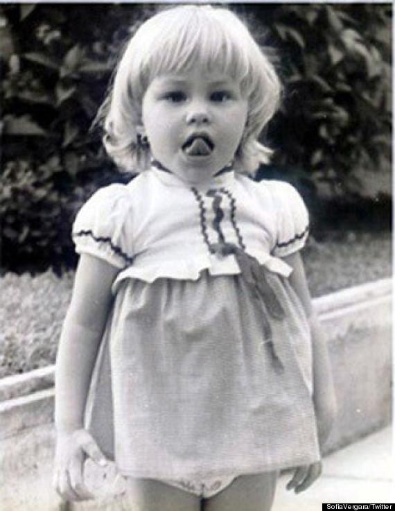 Sofia Vergara as a toddler