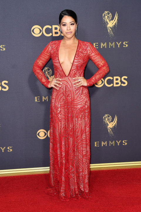 Gina Rodriquez at the 2017 Emmy Awards