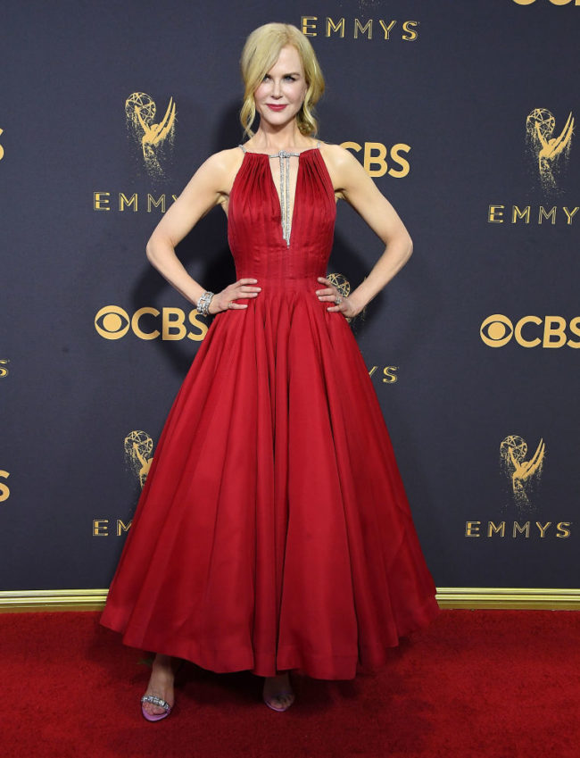 Nicole Kidman at the 2017 Emmy Awards