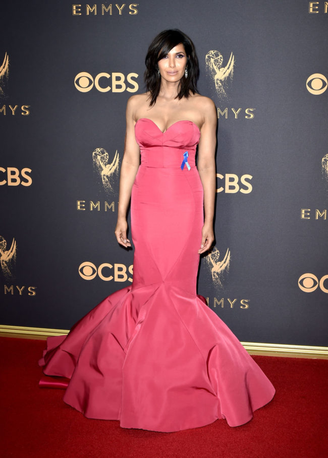 Padma Lakshmi at the 2017 Emmy Awards