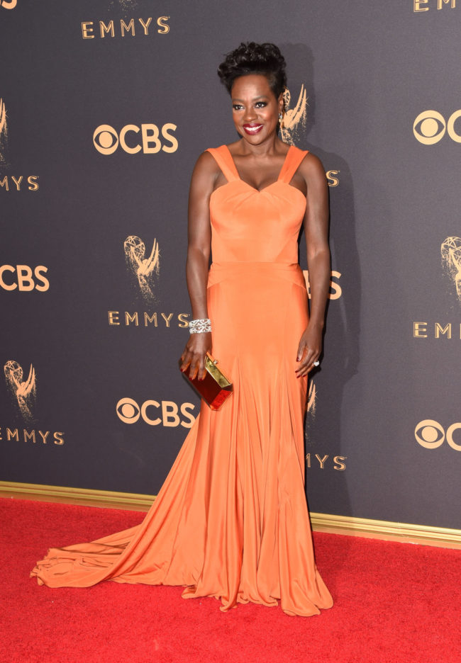 Viola Davis at the 2017 Emmy Awards