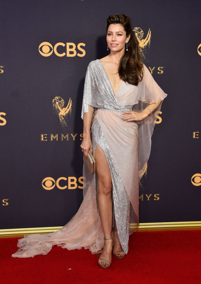 Jessica Biel in Ralph & Russo Couture at the 2017 Emmy Awards