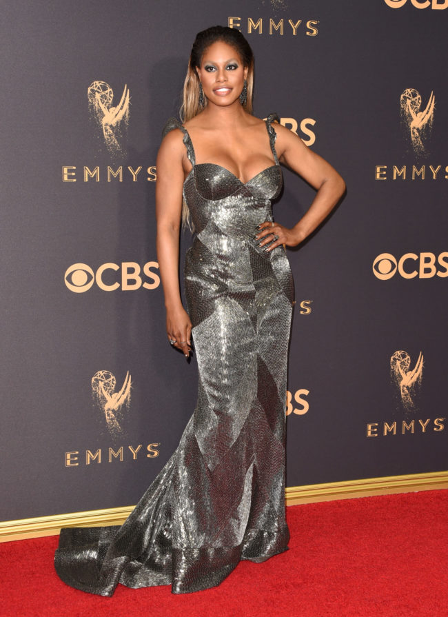 Laverne Cox in Naeem Khan at the 2017 Emmy Awards