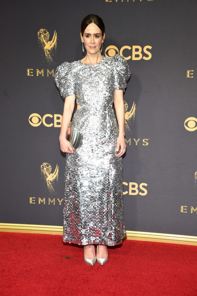 Sarah Paulson in Carolina Herrera at the 2017 Emmy Awards
