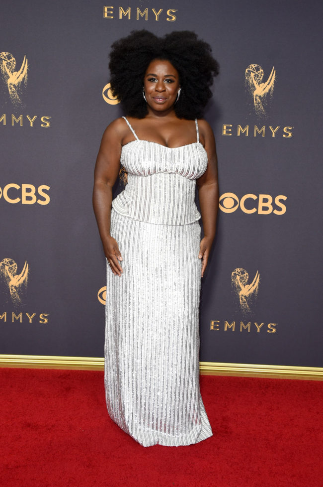 Uzo Aduba in Sally La Pointe at the 2017 Emmy Awards