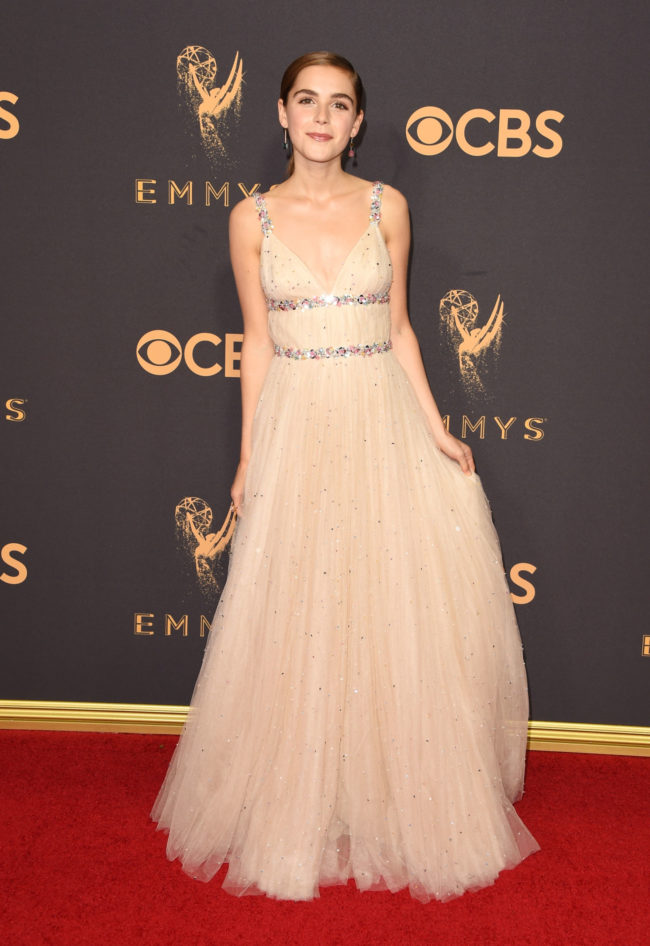 Kiernan Shipka at the 2017 Emmy Awards