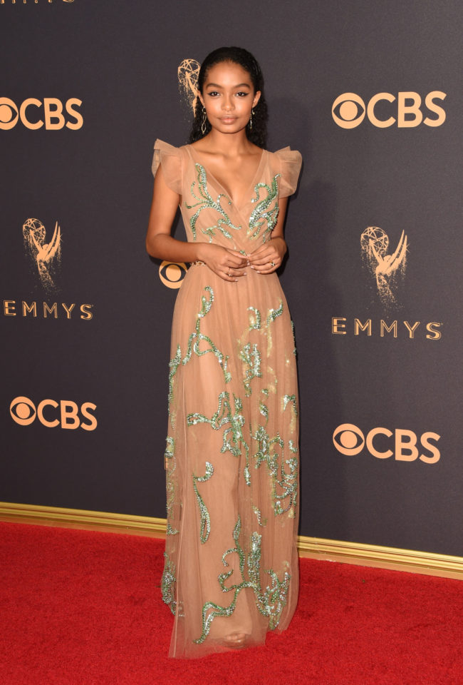 Yara Shahidi at the 2017 Emmy Awards