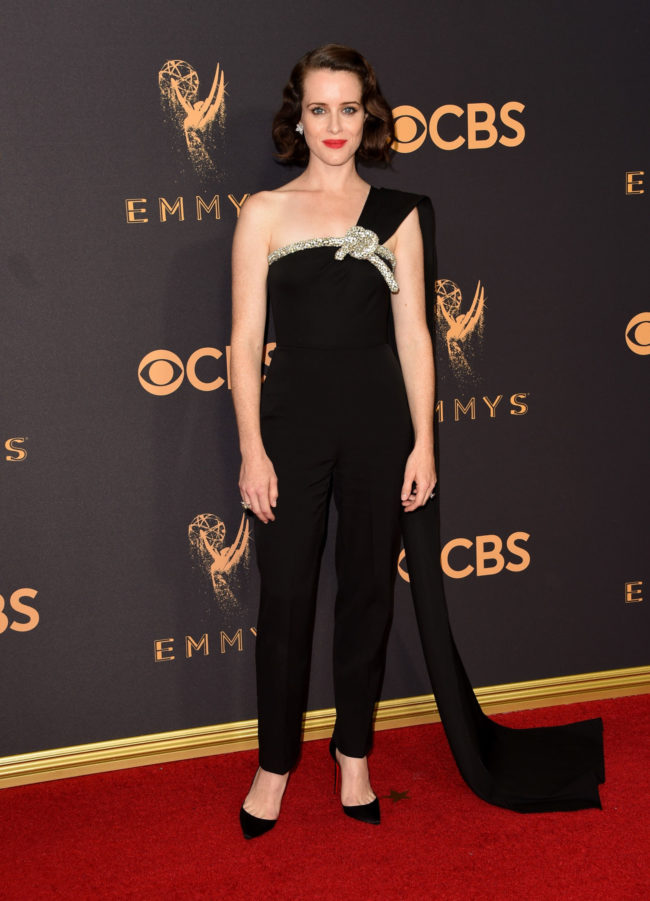 Claire Foy at the 2017 Emmy Awards