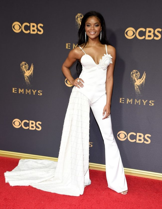 Aijona Alexus at the 2017 Emmy Awards