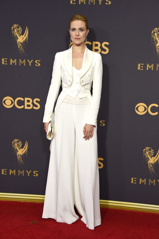 Rachel Evan Wood at the 2017 Emmy Awards