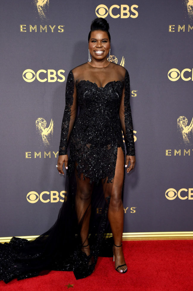 Leslie Jones at the 2017 Emmy Awards