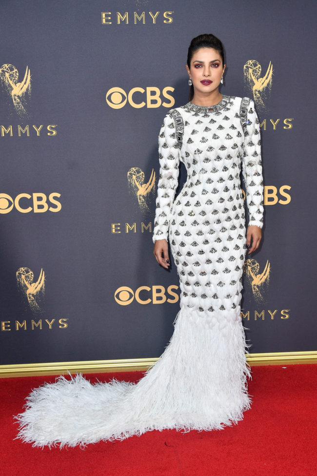 Priyanka Chopra at the 2017 Emmy Awards