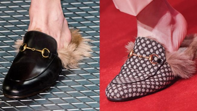 Gucci has become known for their much-loved fur lined mules that have been worn by countless style mavens; both male and females alike