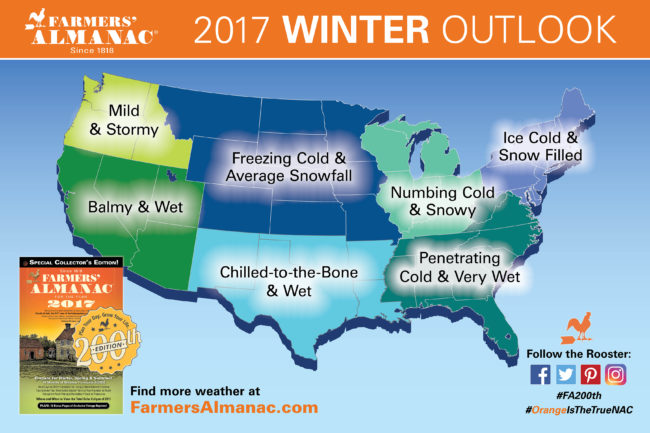 2017 US Farmers Almanac Media Map
