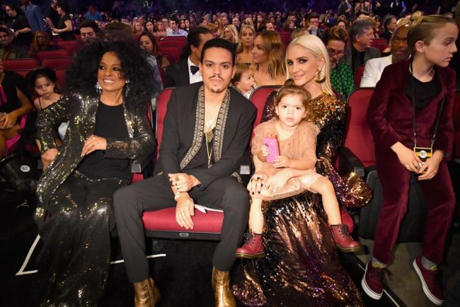 Evan Ross, son of Diana Ross, looked debonair and distinguished at 2017 American Music Awards